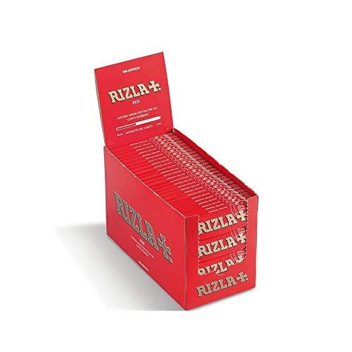 a71e88f9f6fd RizlaTrade 5000 CARTINE RIZLA Red Rosse Corte per Sigarette 100 ASTUCCI 50  FOGLIETTI