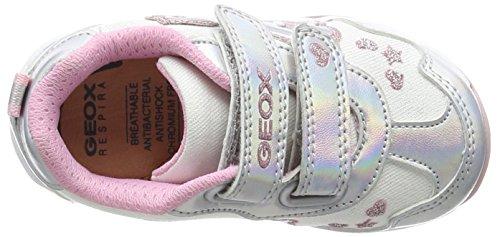 Geox Todo B Baby Mädchen Lauflernschuhe Silver (White/Silver)