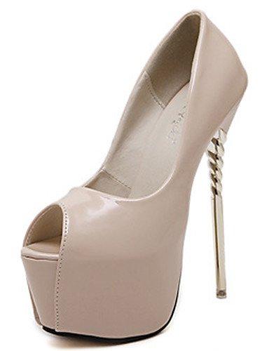 WSS 2016 Chaussures Femme-Habillé / Soirée & Evénement-Noir / Violet / Rouge / Blanc / Amande-Talon Aiguille-Bout Ouvert / Confort-Chaussures à black-us8.5 / eu39 / uk6.5 / cn40