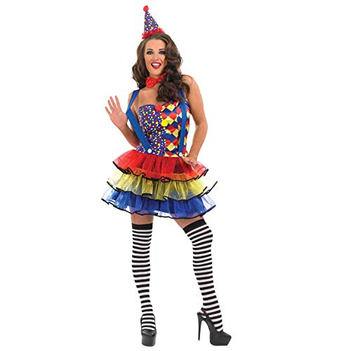 Sexy Clown - Adult Kostüm Größe - Morph Kostüm Clown