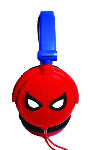 Lexibook hp010sp - cuffie stereo bambini spiderman, design spiderman, potenza sonora limitata, archetto regolabile, pieghevoli, blu/rosso