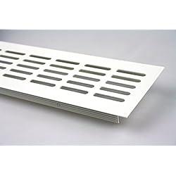 Aluminio Rejillas De Ventilación Chapa Rejilla De Ventilación Blanco recubierto 80x1000mm