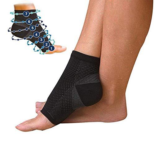 Adaym Kompression Vita-Wear Kupfer infundiert magnetische Fußstütze Socken Original-Qualität, Recovery Fuß Ärmel, Fußknöchel Plantar Fasciitis Support Socken (5 Paare)