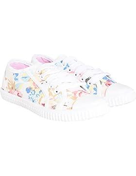 Mädchen Kinder Kinder Creme floral Daisy Spitzen bis Pumpen Trainer Schuhe