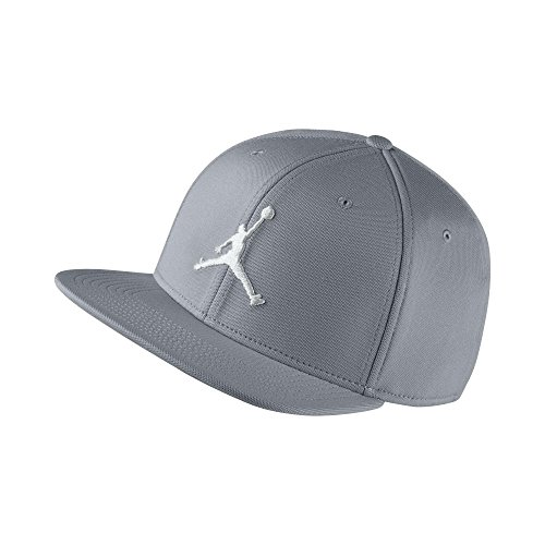 Nike Jordan Jumpman Snapback Kappe, verstellbar, für Herren Einheitsgröße Wolf Grey/Bianco