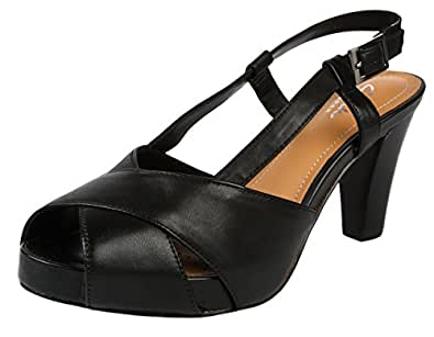 Clarks Women's Selena Jill Black Fashion Sandals - 8 UK