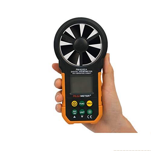Gtest Anemómetro Digital de Mano, indicador de medidor de Velocidad del Viento portátil, con retroiluminación...