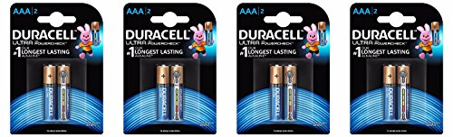 Duracell Ultra AAA Battery with Duralock Technology and PowerCheck - 8 Pieces