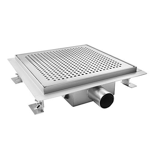 Preisvergleich Produktbild AQUADE 25x25cm Duschablauf Duschrinne Ablaufrinne Edelstahlrinne Bodenablauf Modell: Sita (Größen 15cm - 25cm)