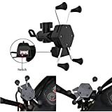 Mobias Retails, Spider Stainless Steel Bike Multifunctional Mobile Holder X Grip Handlebar With USB Charger For IPhone, GPS Device