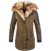 2dccf796b084 Rock Creek Designer Damen Winter Jacke Mantel Kunstfell CL-817