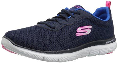 Skechers Women's Flex Appeal 2.0-Newsmaker Trainers, Blue (Navy), 5 UK 38 EU