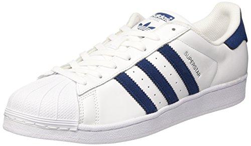 adidas Superstar, Scarpe da Ginnastica Basse Uomo Bianco (Footwear White/collegiate Navy/collegiate Navy)