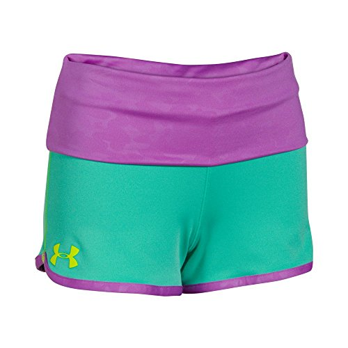 Kids Under Armour Hype Rollover Short, Mosaic/Bloom, YM