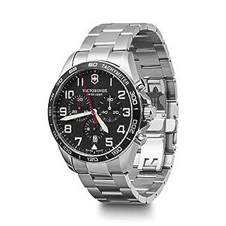 Victorinox Hombre Field Force Chronograph – Reloj de Acero Inoxidable de Cuarzo analógico de fabricación Suiza 241855