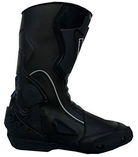 WinNet Stivali da moto con protezione antitorsione neri, Taglia: 41