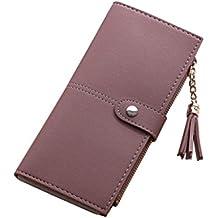 bff33e6a3b78 ESAILQ Simple femmes Portefeuille long Tassel Porte-monnaie carte de sac à  main titulaires