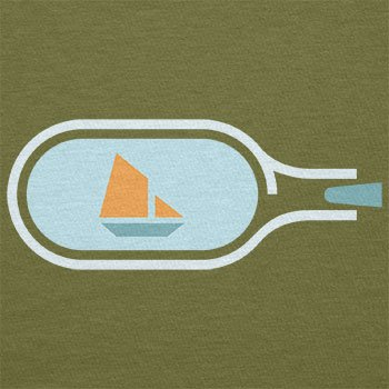 NERDO - Bottled Ship - Herren T-Shirt Oliv