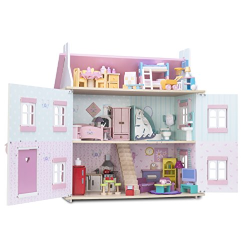 Le Toy Van Wooden Sophie's Doll House with Furniture