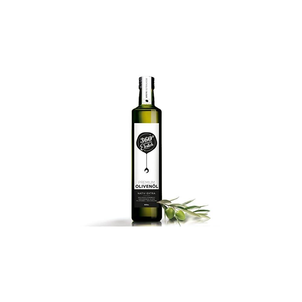 Premium Bio Olivenl Nativ Extra Griechenland Kalamata Sparta Von 360 Rundum Ehrlich Mild Fruchtig Kstlich Kaltgepresst Biodynamischer Anbau Sortenreine Koroneiki Oliven 500ml