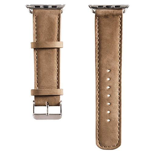 Hama Uhrenarmband Velour (für Apple Watch 38 mm, mit Adapter) nude - Velour Armband