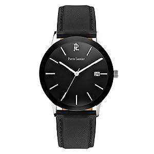 Pierre Mainard - Reloj de cuarzo para hombre, correa de acero inoxidable color negro de Pierre Mainard