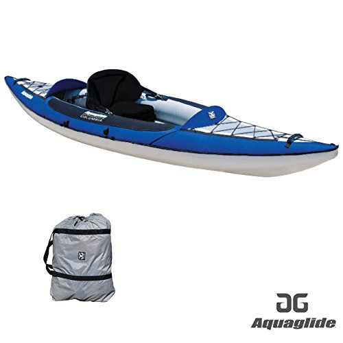 Aquaglide Inflatable Kayak Columbia One XP Canoe 345 cm x 91 cm L B Airboat 1 Person
