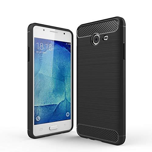 cookaR Cover Samsung Galaxy J5 2018, Custodia Samsung Galaxy J5 2018, Cover Samsung Galaxy J5 2018 Custodia Protettiva Silicone Ultra Sottile in Silicone per Cover per Samsung Galaxy J5 2018(Nero)