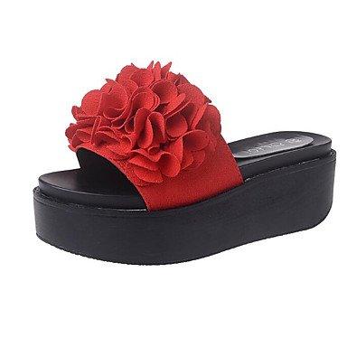 SANMULYH Scarpe Donna Pu Primavera Cadono Comfort Sandali Liane Per Casual Verde Rosso Nero Rosso