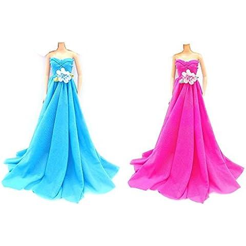OurKosmos® Moda partito di sera abiti da sposa abito per la bambola di -Blue & Pink