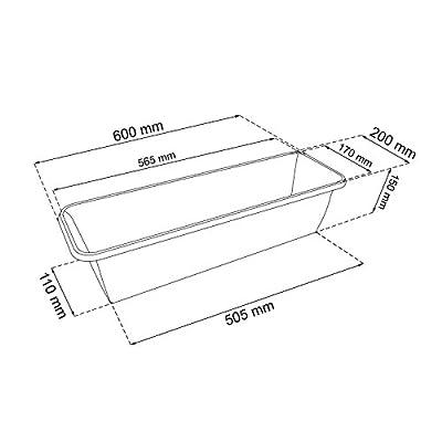 Balkonkasten + Untersetzer + Halterung Komplett 60 cm Terrakota Kunststoff von Patrol auf Du und dein Garten
