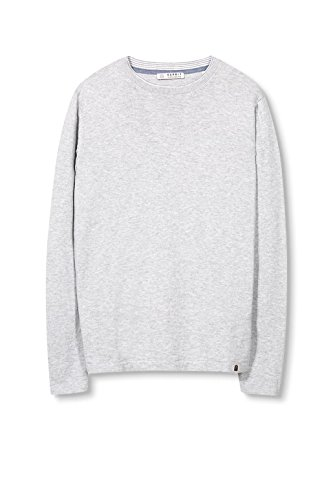 ESPRIT Herren Pullover Grau (Light Grey 040)