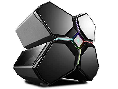 DeepCool QUADSTELLAR Carcasa de Ordenador Full-Tower Negro - Caja de Ordenador (Full-Tower, PC, Aluminio, SPCC, Vidrio Templado, ATX,EATX,Mini-ITX, Negro, Multi)