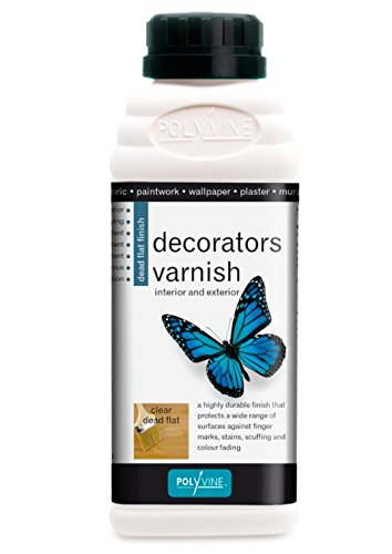 Polyvine Water Base Decorator's Dead Flat Varnish 500ml