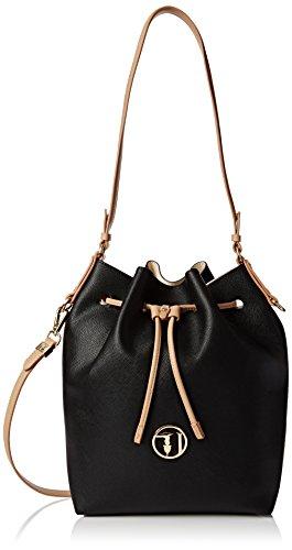 trussardi-jeans-by-trussardi-damen-75bp0453-handtasche-eimerform-nero-black-white-34x33x14-cm