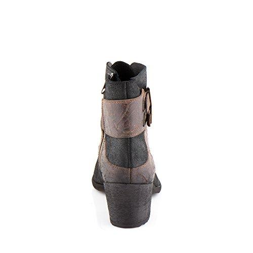 Felmini - Damen Schuhe - Verlieben Hefesto 9951 - Cowboy & Biker Stiefel - Echte Leder - Mehrfarbig Mehrfarbig