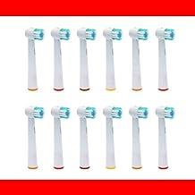 12 Pieza - Recambio para Cepillo eléctrico Compatible y en forma Braun ORAL B/OralB/Oral-B (Todos los modelos OralB / Oral-B Braun cabeza cepillo redondo) ...