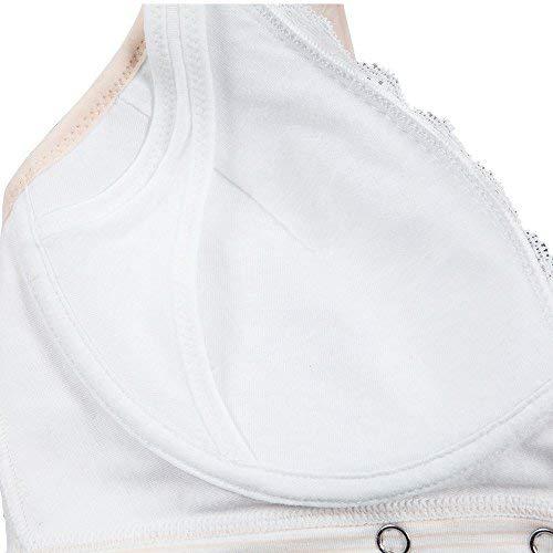 kapoki Damen Still-BH mit 3 Knöpfen und Verstellbarer BH nach der Geburt, Bralette mit gratis BH Waschbeutel - - X-Large - 7