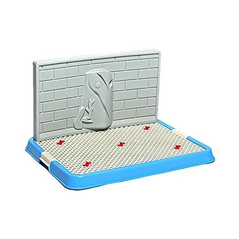Locisne Toilettage pour chien d'intérieur Pet Doggy Training Potty Patch Avec mur Pad d'entraînement Portable (Puppy Litter)