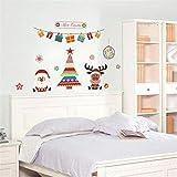 Jkxiansheng Décoration De Noël Arbre Cerf Père Noël Stickers Muraux Fenêtre De Magasin Stickers Muraux Nouvel An Cadeau Décor À La Maison Affiche Murale