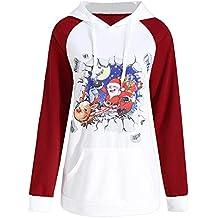 Santa Claus 2018 Navidad LILICAT Impresión De La Atmósfera De Manga Larga Con Capucha Sudadera Camiseta