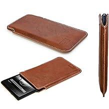 caseroxx funda tipo estuche para Jiayu S3 Advanced Basic (Default) de cuero artificial - Funda protectora para el smartphone (estuche en marrón)