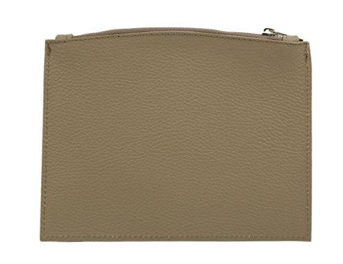 'slingbag LARISSA schlanke Trousse/Etui/Argent Sac en cuir véritable/Sélection de couleurs
