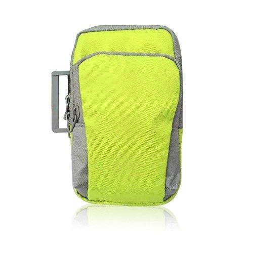 hellodigi Sporthülle Handgelenk Tasche passend für Laufen Wandern Skifahren Klettern Radfahren Grün