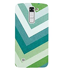 HiFi Designer Phone Back Case Cover LG K10 :: LG K10 Dual SIM :: LG K10 K420N K430DS K430DSF K430DSY ( Light Blue Green Colorful Pattern Design )