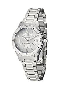 Victorinox Swiss Army Unisex Automatic Watch with Silver Dial Analogue Display and Silver Stainless Steel Strap 241189