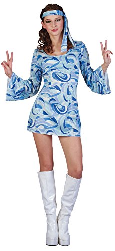 py Hippie 1960s 60s Flower Power Trippy Fancy Dress Costume Outfit 10-12-14 (UK 10-14) ()