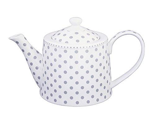Krasilnikoff–Tetera–diseño: Lunares grises–Porcelana–1l)