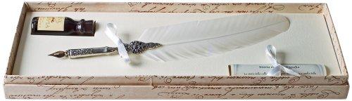 coles-kit-calligraphie-plume-doie-porte-plume-en-etain-flacon-dencre-blanc