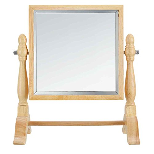 Miroirs New Orme Base De Mode Creative Double-Face Bureau De Maquillage De Coiffure Cosmétique en Bois Massif Support (Couleur : Carré)